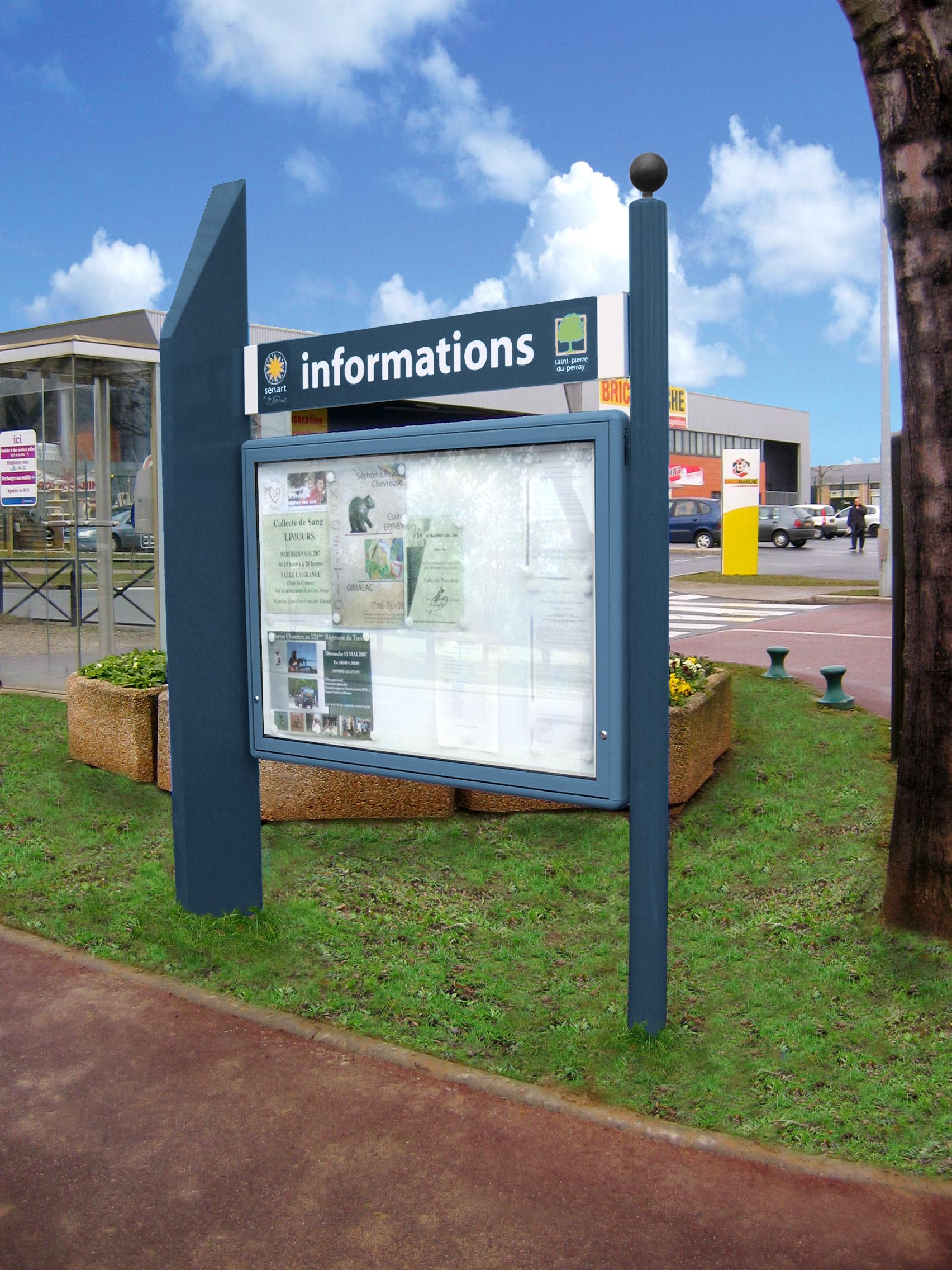 Tableau D Affichage Vitré panneau d'affichage administratif alinéa