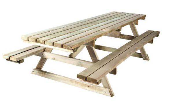 Nouveau Aménagement urbain en bois : table de pique nique RL-56