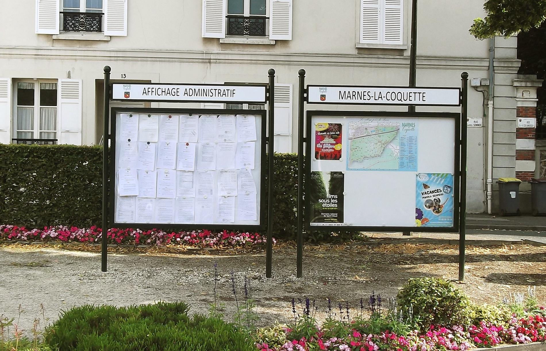 Tableau D Affichage Vitré panneau d'affichage administratif horizontal