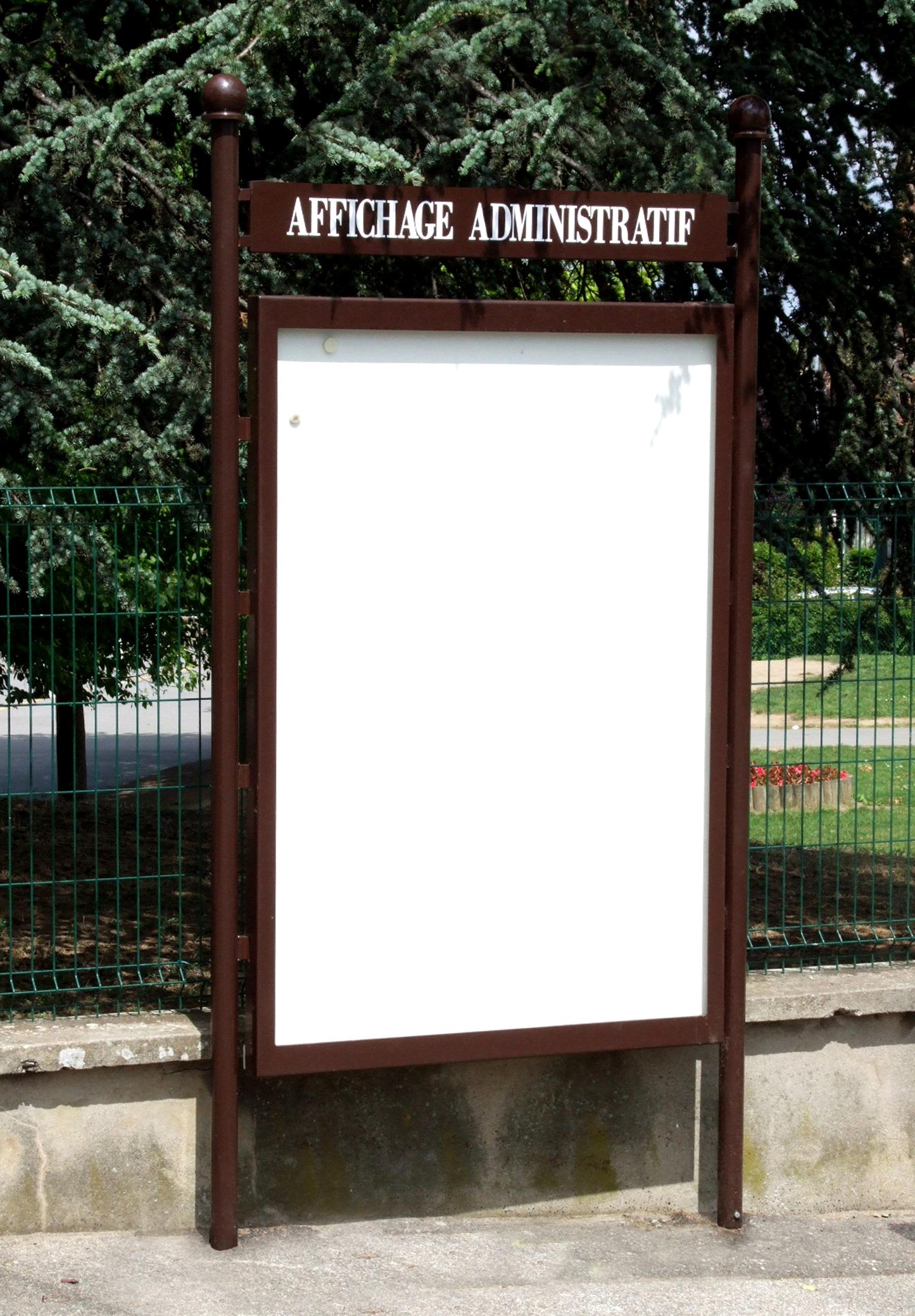 Tableau D Affichage Vitré panneau d'affichage administratif